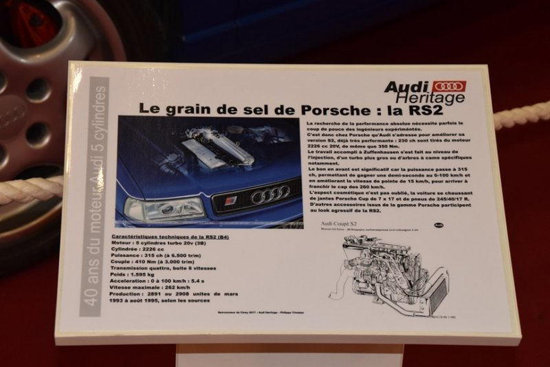 audi RS2 40 ans 5 cylindres ciney 2017 (10)